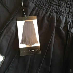 NWT Grace Elements Black Ruffled Skirt - Size S
